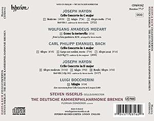 Joesph Haydn; Carl Philipp Emanuel Bach: Cello Concertos [Steven Isserlis; Deutsche Kammerphilarmonic Bremen] [Hyperion: CDA68162] by Hyperion