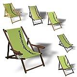 Printalio #irgendwasistimmer - Liegestuhl Bedruckt Balkon Garten Sonnenliege Relax Holz Terrasse   mit Armlehne, Dunkelbraun