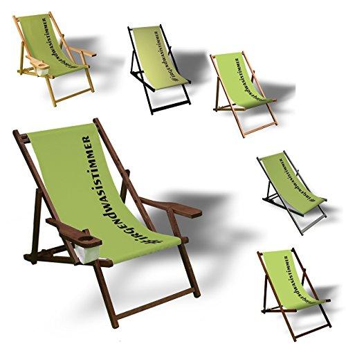 Printalio #irgendwasistimmer - Liegestuhl Bedruckt Balkon Garten Sonnenliege Relax Holz Terrasse |...