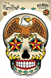 Sunny Buick - Stars Eagle Sugar Skull autocollant Sticker - 3.75'' x 6'' - Weather Resistant, Long Lasting for Any Surface