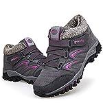 gracosy Women Flat Walking Hiking Ankle Boots, Winter Low Rise Slip On Trekking Footwear Anti-Slip Shoes with Fur Lined… 6