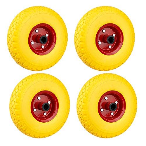 Preisvergleich Produktbild SPEED 4X Schubkarrenrad PU Rad 255mm 3.00-4 Pannensicher Schiebkarre PU Stahlfelg