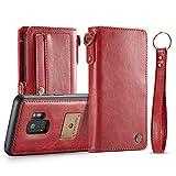 Grandcaser Funda Galaxy S9, Premium Cuero Protectora Book Style Cover Case Flip Wallet Billetera...