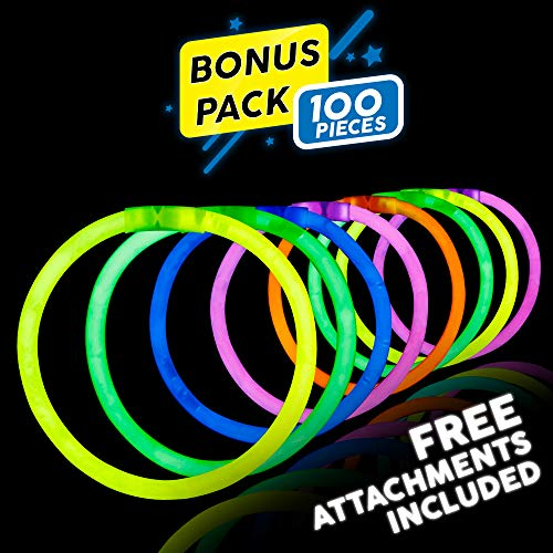 lowsticks Glow Stick Bracelets Mixed Colors (Tube of 100) by Lumistick ()