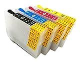 HEMEI Compatible avec Epson 27 27XL,la cartouche d'encre rechargeable fonctionne avec...