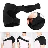 Yaheetech 2x Schulterbandage Schulterschutz Verstellbare Schulter unisex Schwarz