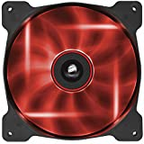 Corsair AF140 LED Quiet Edition 140mm Haut Débit LED Ventilateur de Boitier (Single Pack) Rouge