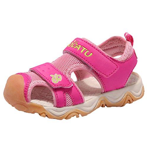 Scothen Sommer Strand Geschlossene Sandalen Klettverschluss Outdoor Wanderschuhe Ultraleicht Breathable Schuhe Flach Unisex Kinder Jungen Mädchen Sandalen Baby Junge Lauflernschuhe Sommer Sandalen (Nike Light Up Schuhe)