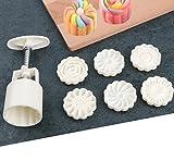 ilauke Presses à Biscuits Lune Mold Round 7 pièces pour Cookies, Muffins, Pâtisserie et Biscuit