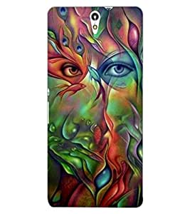 ColourCraft Beautiful Creative Eyes Design Back Case Cover for SONY XPERIA C5 ULTRA