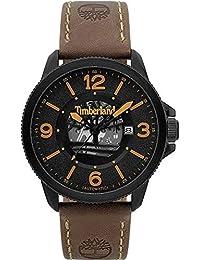 Timberland Biddeford Mens Analogue Quartz Watch with Leather Bracelet  15421JSB-02 f8f51fdb57c