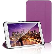 JETech® Gold Slim Fit Galaxy Tab 4 7.0 Funda Carcasa con Frente/Atrás Protección y Stand Función para Samsung Galaxy Tab 4 7 pulgadas Case Cover (Púrpura)