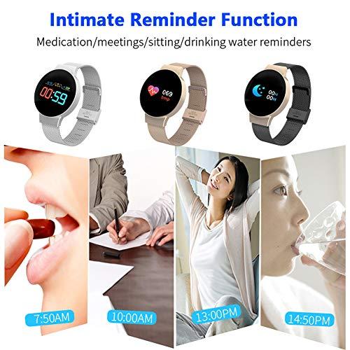 Bracelet Connect/é Montre Sport Smartwatch avec Moniteur de Fr/équence Cardiaque Sommeil Compatible avec iPhone Samsung Huawei Xiaomi TZLong Montre Connect/ée Homme Femmes pour Android iOS