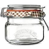 Kilner Square Clip Top Jar 0.5ltr | Kilner Preservation Jar, Kilner Storage Jar, Kilner Jam Jar with Cliptop Lid