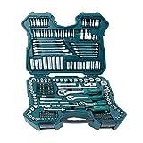 Mannesmann M98430 - Maletín con llaves de vaso y otras herramientas (215 piezas,...