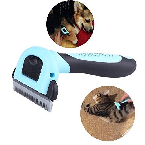 MAIKEHIGH Herramienta de preparación del animal doméstico de Deshedding para arrojar Rake depilación peine desbrozadora Eliminar cepillo de la preparación para el gato del perro