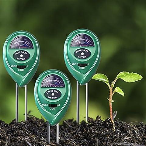 Soil pH Meter 3Pack, og-evkin-in Boden Feuchtigkeit Tester-Kits, Licht &