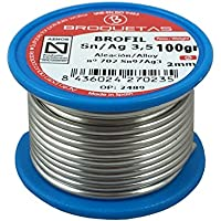 Brofil Sn Ag 3.5 AENOR Pack 5 carretes estaño plata hilo de soldar de 100g
