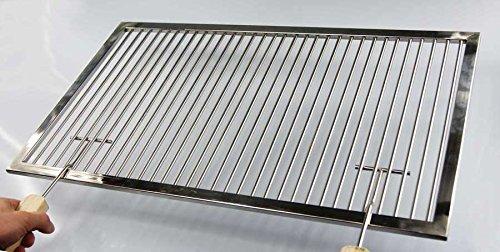 AKTIONA Ø 8mm Grillstäbe Edelstahl Grillrost nach Maß + Griffe - Umfang: 1-180 cm, Rost nach Maßanfertigung, Grill nach Wunsch, Gasgrill, Grillkamin,V2A,