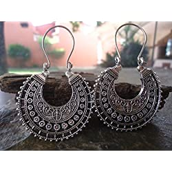 ✿ TRIBAL BOHO CREOLES ✿ Pendientes bellamente decorados