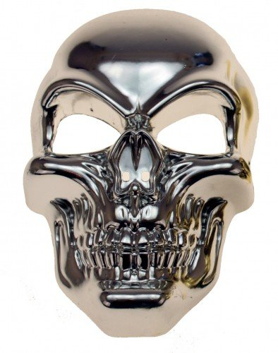 Gravidus Totenkopf Maske Schädel Skelett Halloween Karneval Kostüm (Silber)