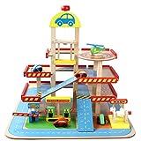 Ysy Kinderspielzeug Dreidimensionale Dreistöckige Parkhäuser Aus Holz Für Autos Geeignet Für Kinder Im Alter Von 3 Bis 6 Jahren