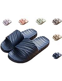 HOME STYLE Rosa Pantofole da bagno Donna Interna e Pantofola da uomo Sandalo estivo antiscivolo con massaggio per piedi Moda Pantofola OwZaGkUHG