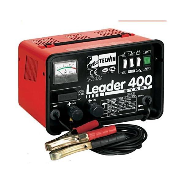 Caricabatterie Avviat.Telwin Leader 400 Start 12-24 V Utensileria Elettrica