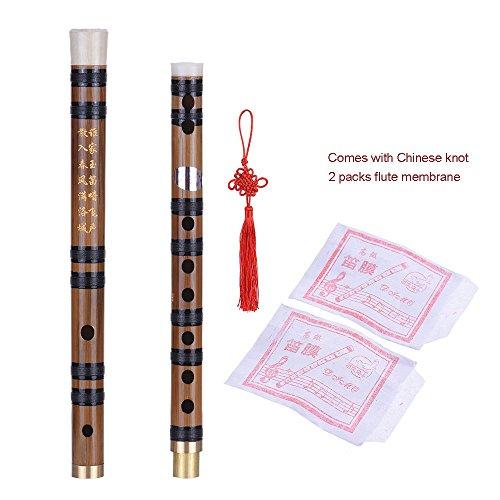 Ammoon Flöte in E, steckbar, von Hand gefertigt, Bitterbambus, traditionelles chinesisches Holzblasinstrument für Anfänger