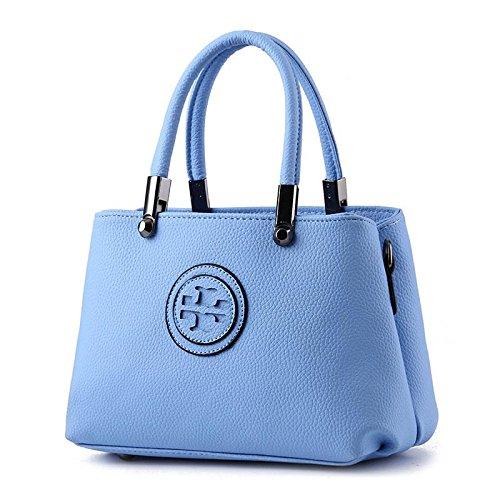 HQYSS Borse donna In pelle coreana PU Croce corpo donna tracolla Messenger Handbag , pink days blue
