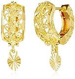 Jewel House Golden Plated Hoop Earrings ...