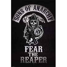 """Póster Sons of Anarchy/Hijos de la Anarquía Logotipo """"Fear The Reaper/Teme al... (61cm x 91,5cm)"""