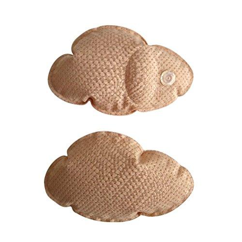 BESTOYARD Weiche glatte bequeme wiederverwendbare kleine Fisch-aufblasbare Schwamm-gepolsterte Brust-Auflage (Beige)
