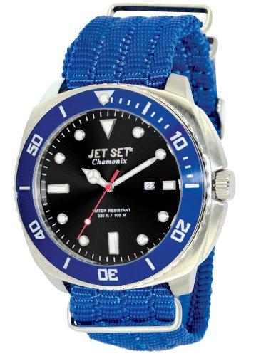 Jet Set–j27703-263–Chamonix Nylon Strap Men's Watch–Analogue Quartz–Black Dial–Blue