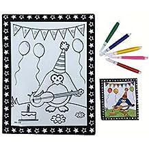 Fai da te per bambini Coloring Palette Tavolo da disegno Concavo-convesso con penne [Pengui]