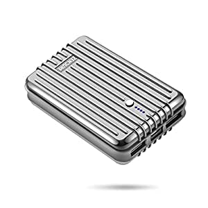 Zendure A3 Batterie Externe 10000mAh 2 Ports USB Chargeur Portable Ultra Légère Power Bank pour iPhone, Samsung, Huawei, iPad et Plus de Smartphones - Argent