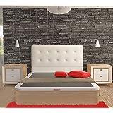 LA WEB DEL COLCHON - Cabecero Corfu (Cama 135) 145 x 70 cms. Color 00 - Blanco