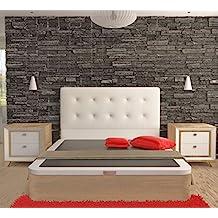 LA WEB DEL COLCHON - Cabecero Corfu (Cama 180) 190 x 120 cms. Color 00 - Blanco