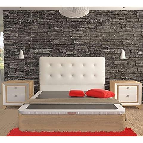 LA WEB DEL COLCHON - Cabecero Corfu (Cama 150) 160 x 70 cms. Color 17 - Plata