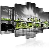 Bilder 200x100 cm - 3 Farben zur Auswahl ! XXL Format! Fertig Aufgespannt TOP Vlies Leinwand - 5 Teilig - New York City Wand Bild Bilder Kunstdrucke Wandbild 030102-26 200x100 cm B&D XXL