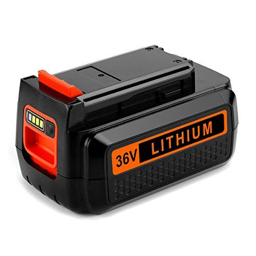 Energup 36V 2.5Ah Li-Ion Ersatz Akku für Black & Decker 36V BL20362 LBX2040 LBX36 LBXR36 LBXR2036 - mit Ladezustandsanzeige