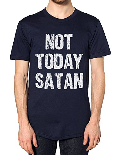 FunkyShirt Nicht Heute Satan T Shirt, Blau, NotSatan-Tee-Navy-Mens-XXL (Mens Tee Teufel)