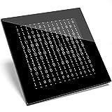 1 X Cool Black Binary Geek Hacker sottobicchiere in vetro - Regalo per studenti della cucina #15935