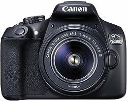 Canon EOS 1300D Kit Fotocamera Reflex Digitale da 18 Megapixel con Obiettivo EF-S DC III 18-55 mm, Wi-Fi, NFC, Versione EU, Nero/Antracite