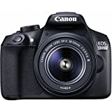 "Canon EOS 1300D - Cámara réflex de 18 Mp (pantalla de 3"", Full HD, 18-55 mm, f/1.5-5.6, NFC, WiFi), color negro - Kit con objetivo EF-S 18-55 mm DC III (importado)"