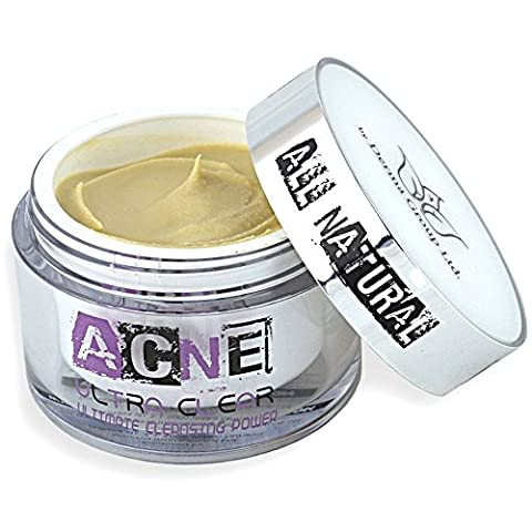 Natural Acne Treatment Cream - Best Non Greasy Organic Spot Remedy for Cystic and Hormonal Acne, Suitable for Adult and Teenage use, Day and Night and EU Certified - Start Clearing Your Acne