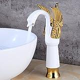 Messing Einzigen Handgriff Basin Sink Mischbatterie Luxus Waschbecken Wasserhahn Hotel Badezimmer Küche Wasserhahn Heißes Und Kaltes Wasser (Farbe : F, größe : L)