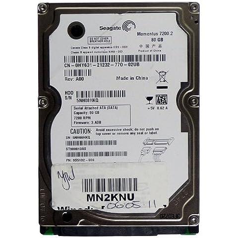 Portátil 80GB Seagate Momentus Momentus st9808ST3500413AS 7200.2SATA id11071