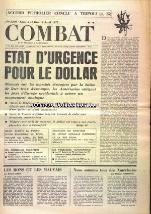 COMBAT [No 8309] du 03/04/1971