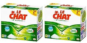 Le Chat L'Expert - Lessive en Tablettes - Lot de 2 x 56 Tablettes - 56 Lavages